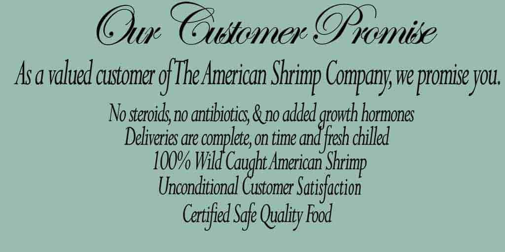 the american shrimp company customer promise