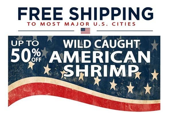 free shipping from the american shrimp co