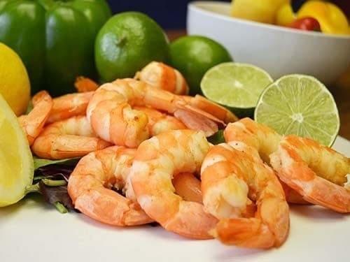 large cooked wild caught american shrimp