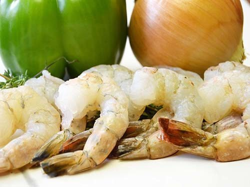 perfectly hand peeled wild caught american shrimp