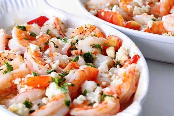 shrimp and feta