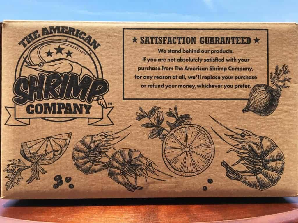 the american shrimp company shipping box